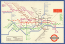 LONDON UNDERGROUND tube map plan diagram. Middle Circle. HARRY BECK #1 1936